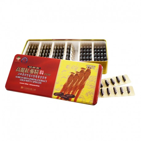 Korean Red Ginseng Extract Gold Soft Capsules
